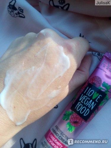 Крем для рук Eveline I Love Vegan Food Защитный малина и кориандр фото