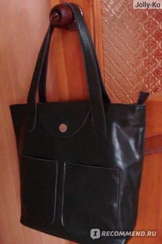 Зеленая кожаная сумка с Садовода