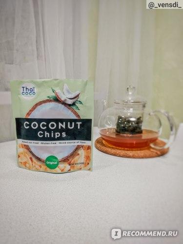 Кокосовые чипсы Thai Coco Cococnut Chips фото