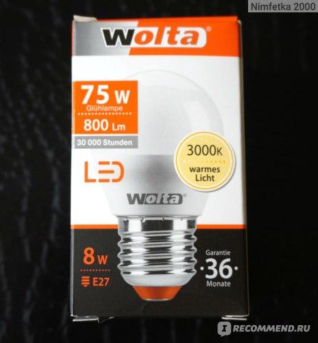 Лампа светодиодная Wolta LED 8Вт Е27 фото