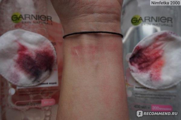 Мицеллярная вода Garnier Розовая «Очищение + Сияние» для тусклой и чувствительной кожи фото