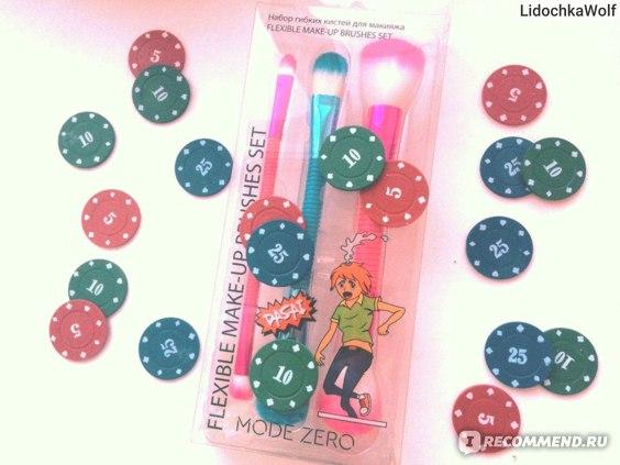 Кисти для макияжа MODE ZERO гибкие flexible make-up brushes set фото