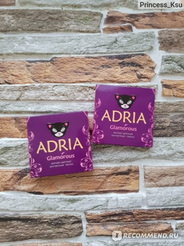 Цветные контактные линзы ADRIA Glamorous отзыв Princess_Ksu