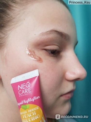 """Жидкий хайлайтер Neo Care """"Glitter mousse peach pudding"""" отзыв Princess_Ksu"""