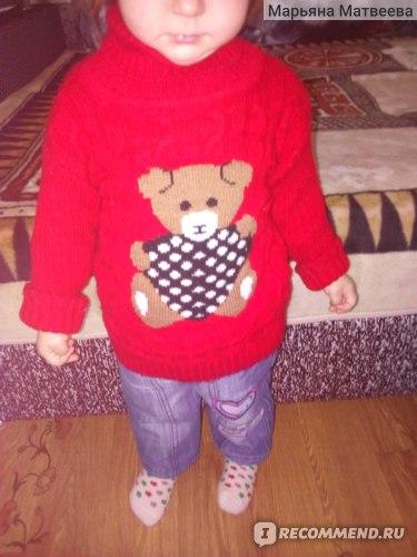 На данный момент — это любимый свитерок моего ребенка!