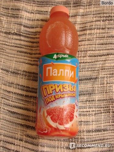 Сокосодержащий напиток Добрый Pulpy «Освежающий грейпфрут»: бутылка на 900 мл