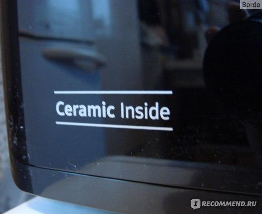 Микроволновая печь Samsung MG23K3513AK: надпись о керамике внутри на самой микроволновке