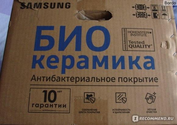 Микроволновая печь Samsung MG23K3513AK: коммерческая информация на коробке от печи 4