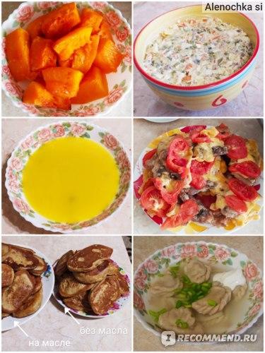 Варианты питания на диете