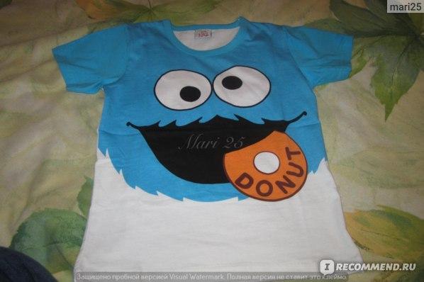 Футболка AliExpress New 2015 children t shirts short-sleeved boys t-shirts smile face t-shirt girls summer wear kids t shirt unisex outwear. фото