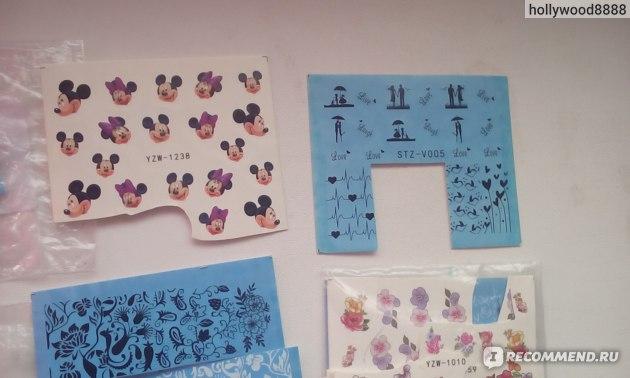 Наклейки для ногтей Aliexpress 2014 new 1 piece Water Transfer Nail Art Stickers Decal Mystery Flowers artificial flowers watermark nail stickers 1238 фото