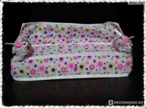 Aliexpress Диван для кукол Mini Furniture Flower Sofa Couch +2 Cushions For Doll House Accessories 92OJ фото