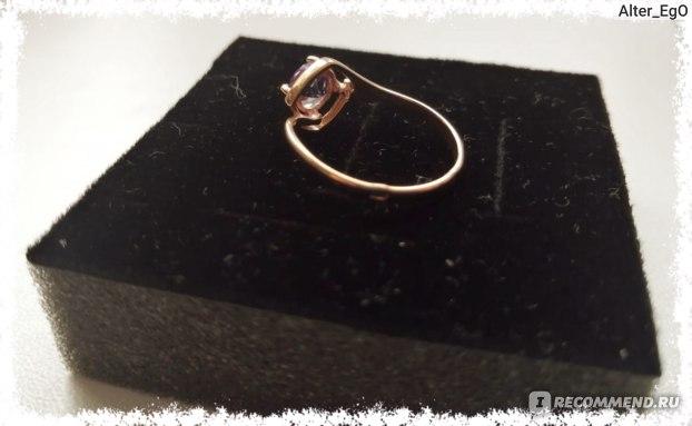 Серебряное кольцо Ювелирочка С аметистом и бриллиантом Арт.1042698 фото
