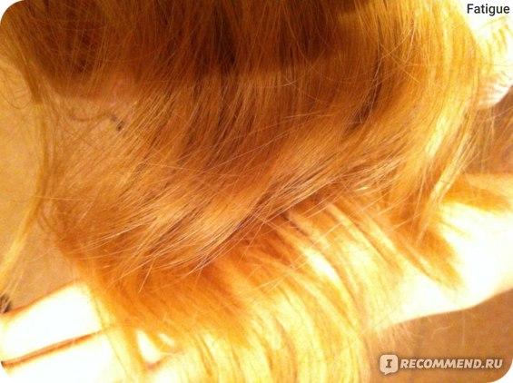 Кончики волос после маски, фото на телефон. Пользовалась феном.