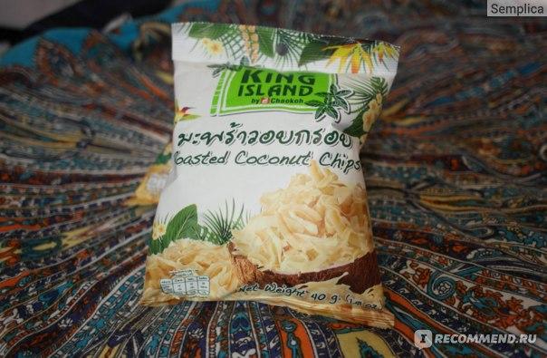 Чипсы   кокосовые King Island (Roasted coconut chips) фото