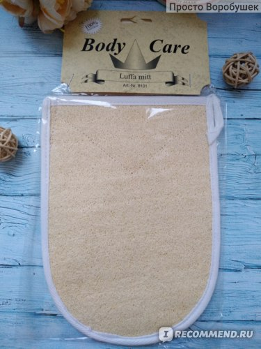 Губка-пилинг для тела Beautylogia Body care luffa mitt фото