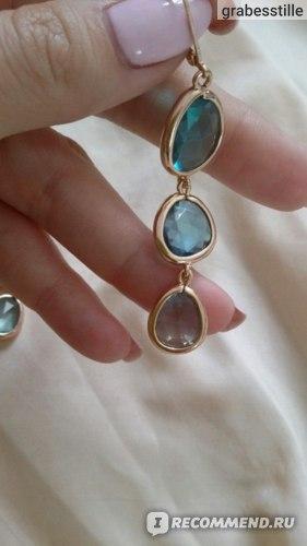 Серьги Aliexpress 2016 New Fashion Dangle Long Earrings Fashion Jewelry Charms Colorful Crystal Stone Long Drop Pink Earrings For Women 2016 Girls фото