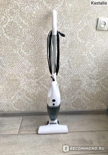 Вертикальный пылесос PROFFI  2 в 1, 9 насадок, безмешковый, 650 Вт, белый, прозрачный, серый фото