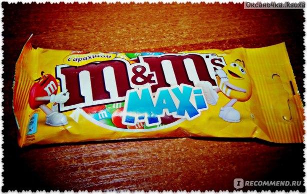 Драже M&M`s Maxi с арахисом и молочным шоколадом фото