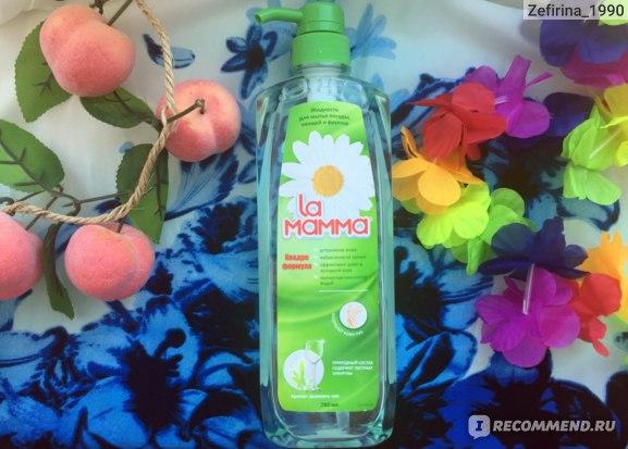 Жидкость для мытья посуды, овощей и фруктов La Mamma Квадро формула  фото