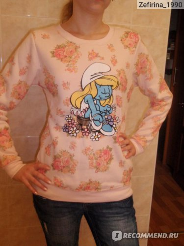 Толстовка AliExpress 2013 autumn new arrival cute cartoon flower print sweatshirt, hoodies. фото