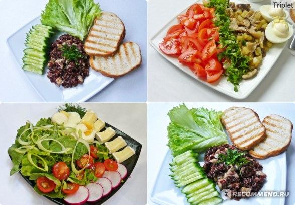 Красный рис, зелёный салат и т.д