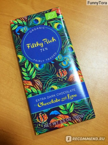 Горький шоколад Chocolate and Love Filthy Rich 71% - Dark  фото