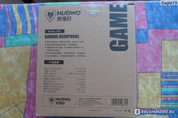 Наушники с микрофоном Aliexpress Nubwo K6 Headphone Gaming Headset with Microphone 3.5mm Stereo Noise Cancell Game Earphone Glowing LED Light USB for PC Computer фото