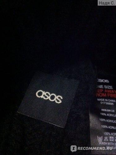 Шапка ASOS Вязаная шапка-бини с помпоном (Cable Pom Beanie) фото