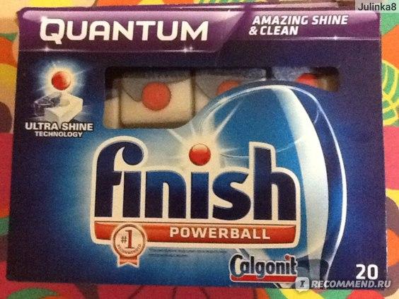 Средство для мытья посуды в посудомоечной машине Finish Quantum фото