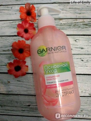 """Крем-гель для умывания Garnier """"Основной уход"""" для сухой и чувствительной кожи фото"""