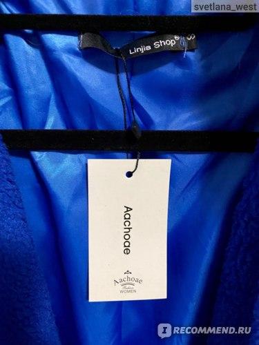 Шуба  (меховое пальто) AliExpress Aachoae Winter Casual Solid Teddy Coat Women Long Sleeve Fleece Long Jacket Turn Down Collar Lamb Fur Coat Outerwear Fourrure фото