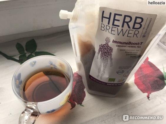 Чай- фильтр Herb Brewer Immune Boost:T Organic herbal tea . Дания  фото