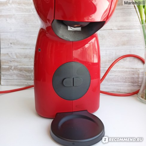 Капсульная кофе машина KRUPS PICCOLO XS KP1A05 КРАСНАЯ  фото