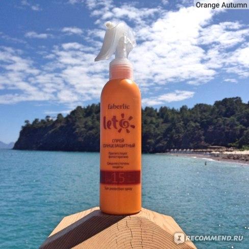 Спрей для тела Faberlic солнцезащитный SPF15 фото