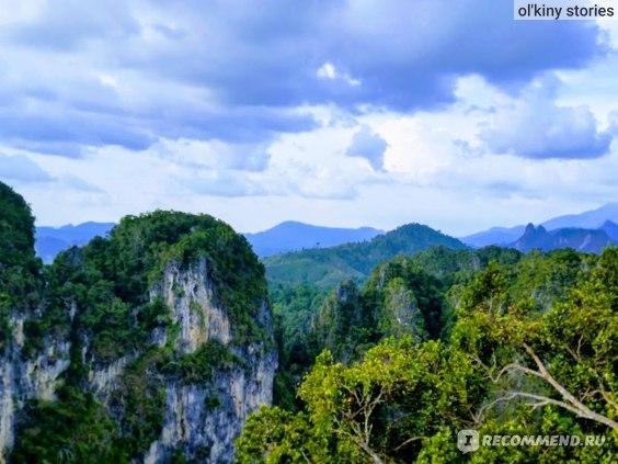 Вот такая красота открывается с вершины горы Храм Тигра (Tiger Cave Temple)