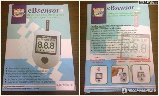 Глюкометр  eBsensor фото