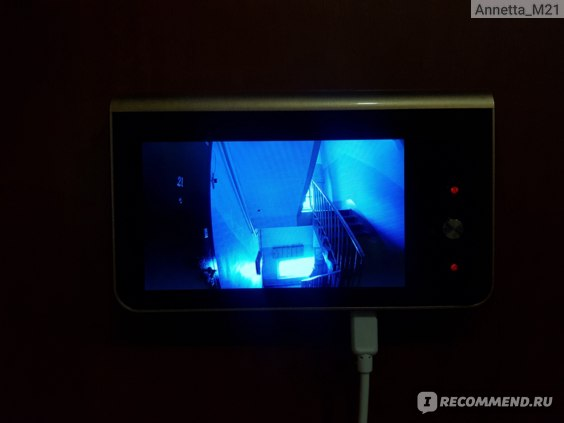 Дверной видеоглазок Aliexpress 4.3 Inch Monitor Wifi Smart Peephole Video Doorbell HD720P Camera Night Vision PIR Motion Detection APP Control For IOS Andriod фото