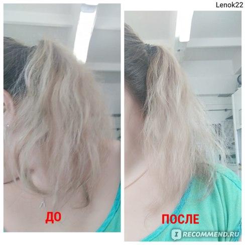 До и после использования расчетки на моих волосах