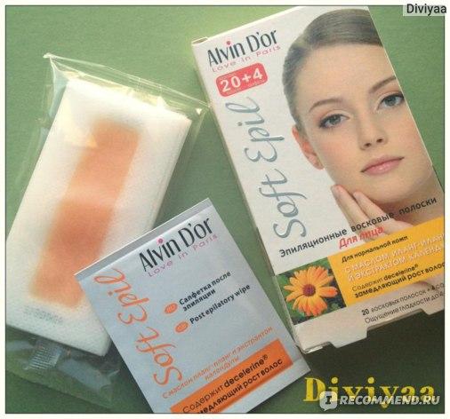 Восковые полоски Alvin D'or  с маслом иланг-иланг и экстрактом календулы для лица фото