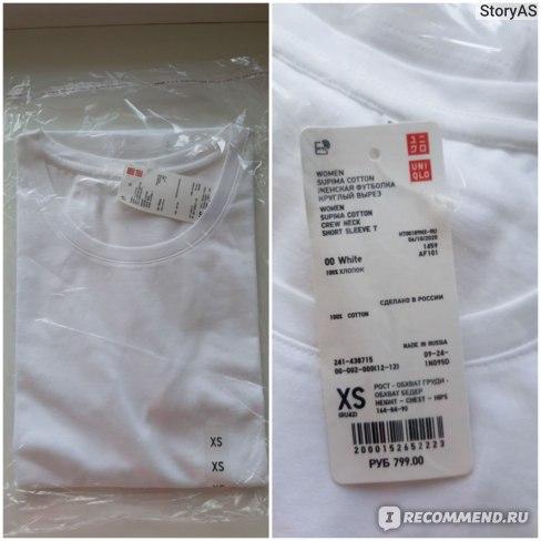 Юникло футболка качество Supime Cotton отзывы