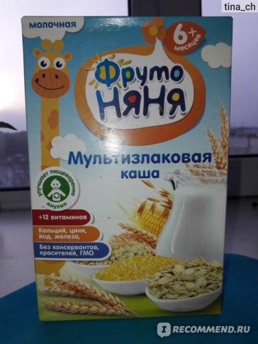 Мультизлаковая каша с молоком Фруто Няня фото