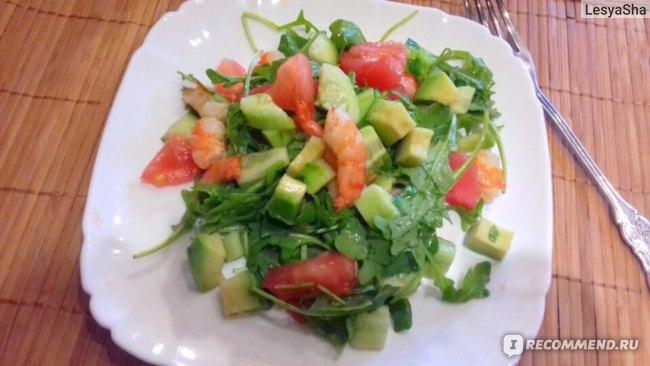 Лёгкий салат с креветками