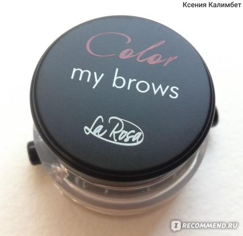 Гель для бровей La Rosa Color my brows фото