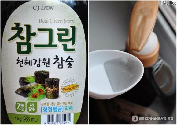 Средство для мытья посуды CJ Lion Концентрированный гель с древесным сосновым углем и экстрактом розмарина  фото