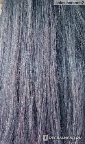 Выпрямленные волосы с составом