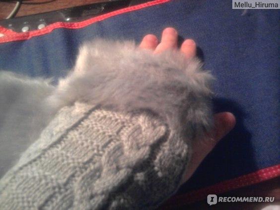 Перчатки Tinydeal Lovely Artificial Cony Hair Half Finger Gloves  фото