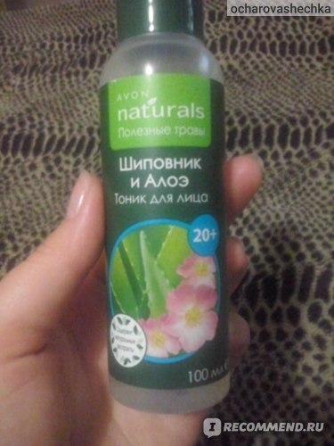 Тоник для лица Avon Naturals Полезные травы Шиповник и алоэ, 20+ фото