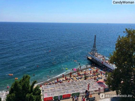 вид с нашего балкона на пляж