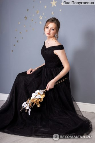 Вечернее платье AliExpress Women's Long Wedding Dress It's Yiiya, Blue Tulle Bridesmaid Dress for Summer 2019 фото